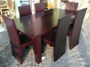 set meja makan antik kursi blok